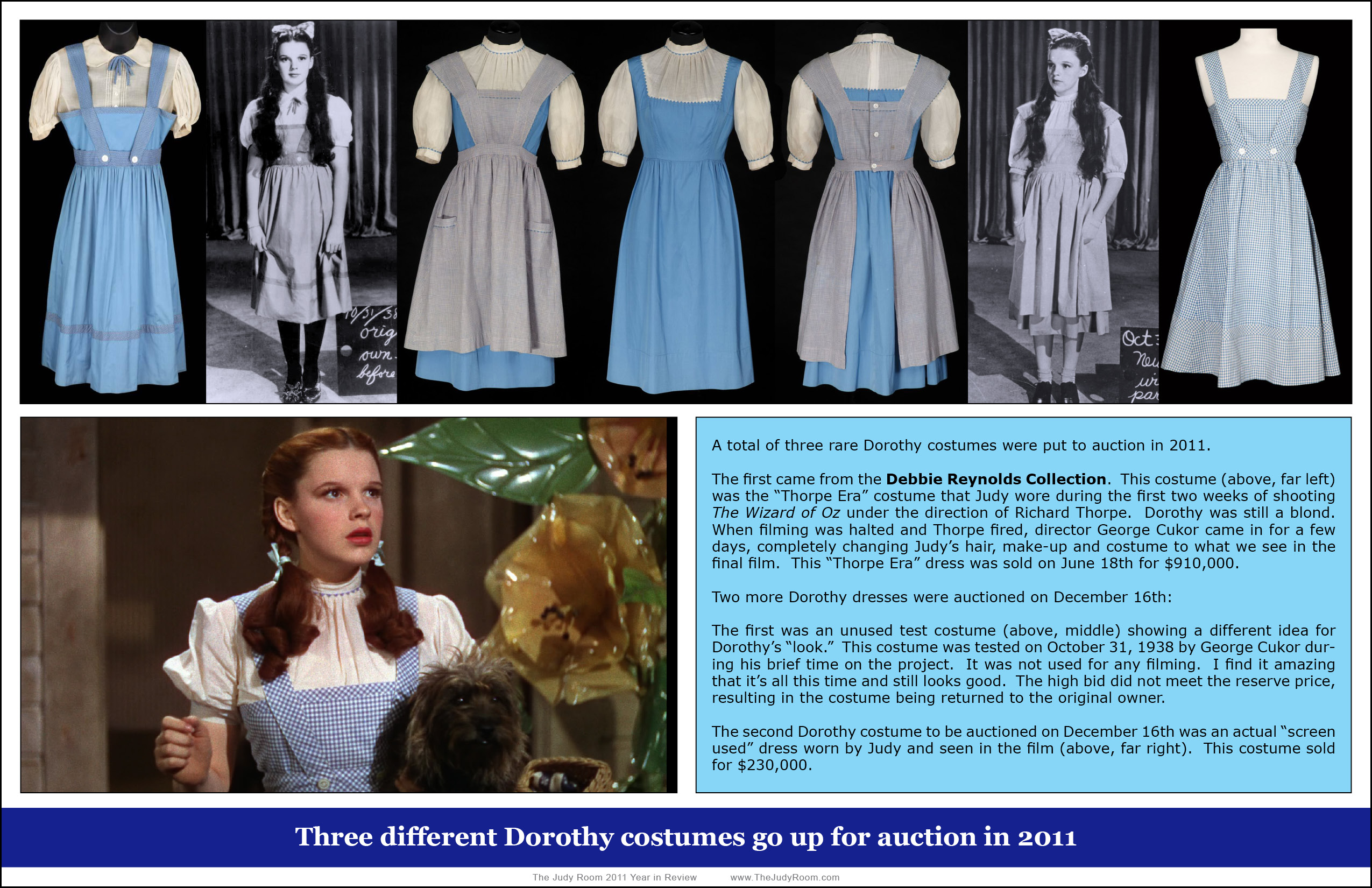 Dorothy Costumes Through The Years Judy Garland News Events